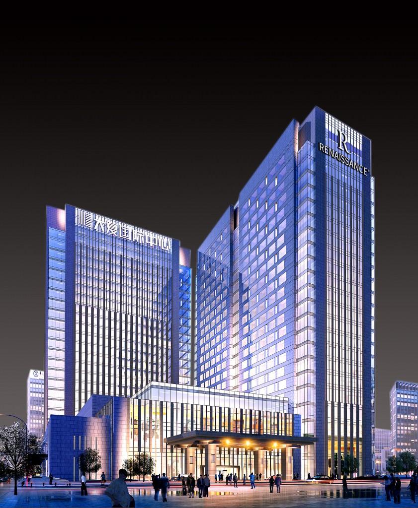 西安万丽酒店楼体效果图